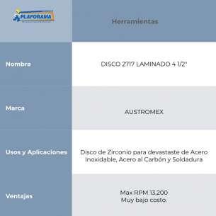 "DISCO 2717 LAMINADO 4 1/2"" AUSTROMEX"