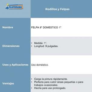 """FELPA 9"""" DOMESTICO 1"""""""