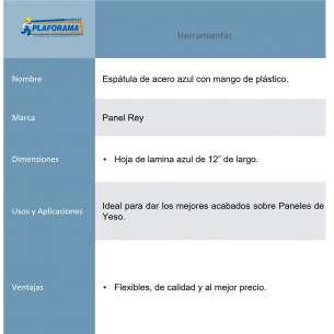 "ESPATULA DE ACERO AZUL 12"""