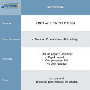 "CINTA AZUL PINTOR 1"" X 50M"