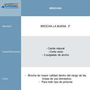 "BROCHA LA BUENA  3"""