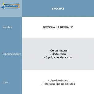 """BROCHA LA REGIA  3"""""""