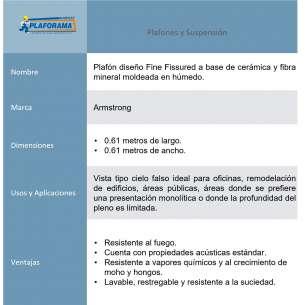 PLAFÓN FINE FISSURED 0.61M X 0.61M