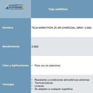 TEJA MARATHON 25 AR CHARCOAL GRAY 3.0M2