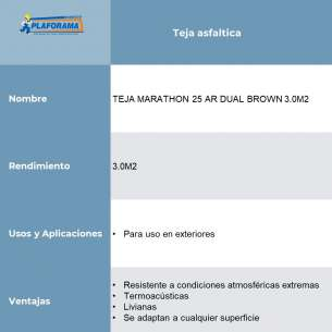 TEJA MARATHON 25 AR DUAL BROWN 3.0M2