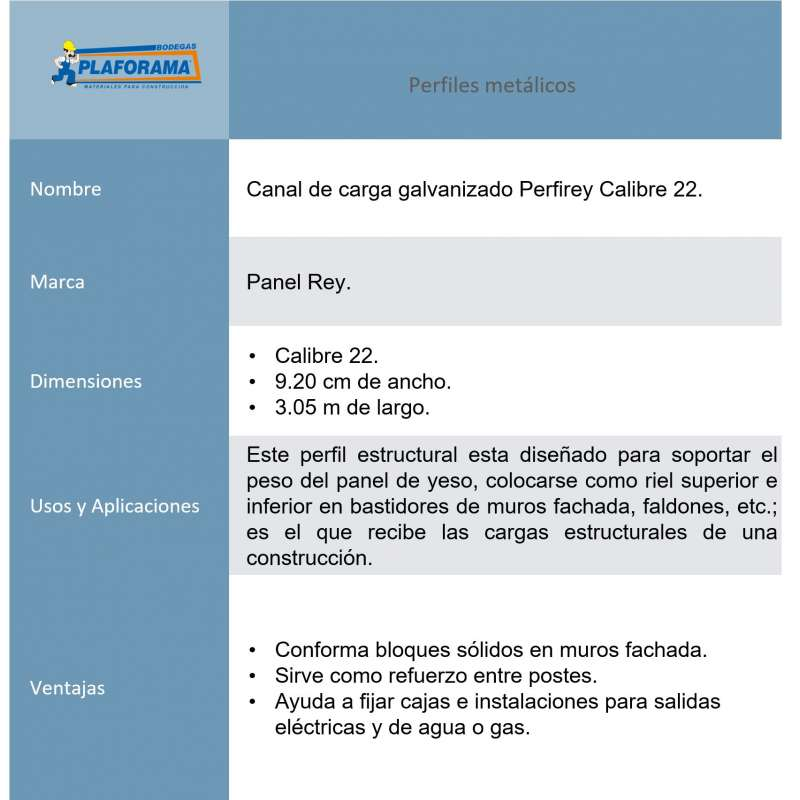 Canal de carga PerfiRey Cal. 22 Panel...