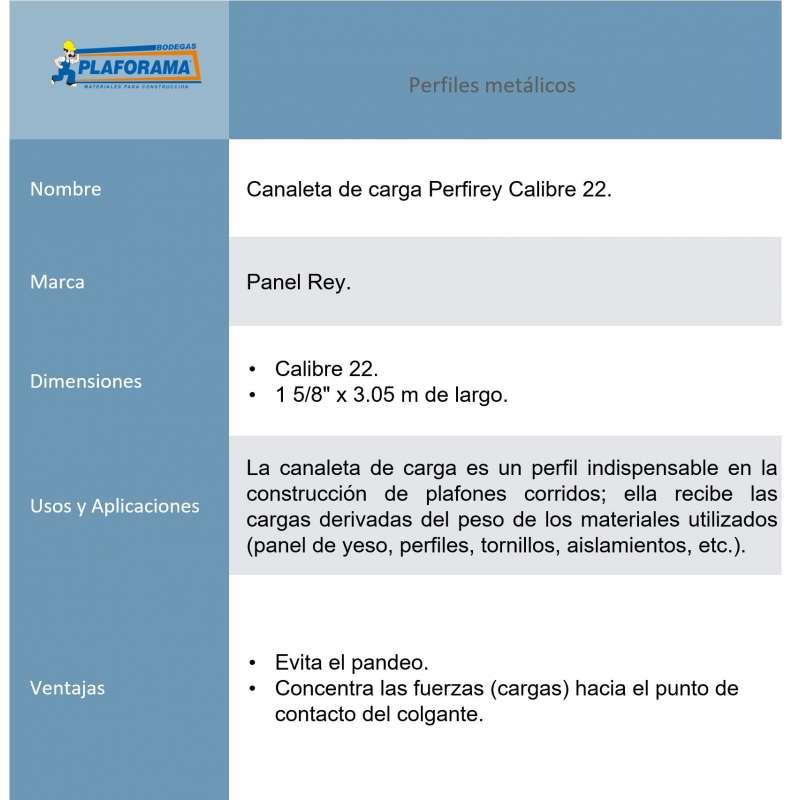 Canaleta Carga Perfirey 800385 cal....