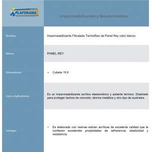 IMPERMEABILIZANTE TERMOFIBER FIBRATADO BLANCO 19L