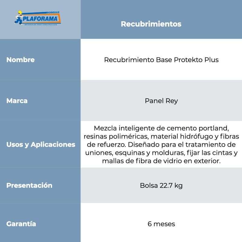 Recubrimiento Base Protekto Plus...