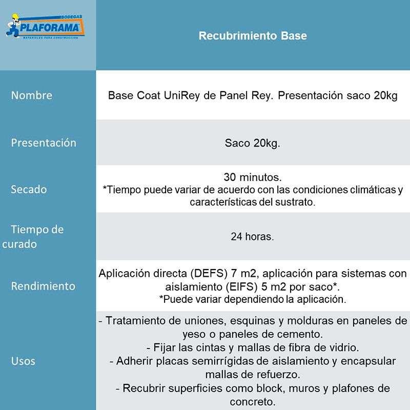 Base Coat UniRey de Panel Rey Saco 20kg