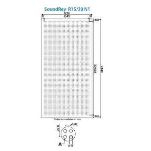 Panel Sound Rey R15/30 N1 Panel Rey 1.22m x 2.44m 1 pieza