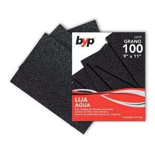 Lija de agua BYP Grano 100 Mod. LAG10. Presentación 1 pieza. Papel impermeable.