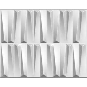 PANEL 3D MODELO GLASS DE 80X62.5CM COLOR BLANCO CAJA CON 6 PIEZAS