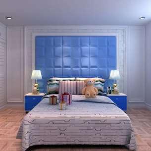 Panel 3D Decomode 519980 Mod. Mosaics color blanco. Presentación caja c/6 piezas en medida de 80x62.5 cm cada una.  Los paneles de pared son blancos para que puedan personalizarse con el color que mejor se adapte a la decoración del espacio donde se instalan.